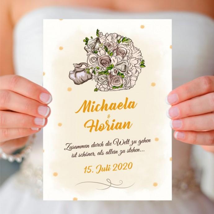 PDF-Vorlage zum selbstausdrucken Hochzeitseinladung